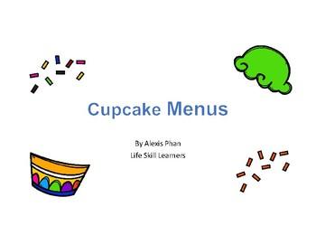 Cupcake Menus