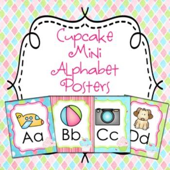 Cupcake Mini Alphabet Posters A - Z