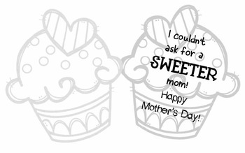 Cupcake Mother's Day Card