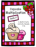 Valentine's Day Cupcake Multiplication Facts