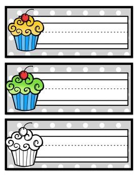 Cupcake Name Tags {FREEBIE}