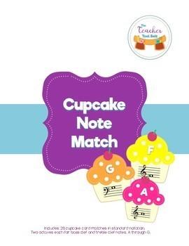 Cupcake Note Match