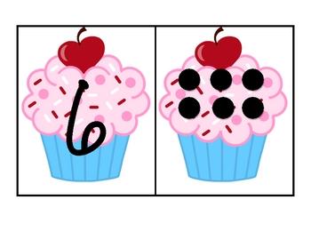 Cupcake Number Match