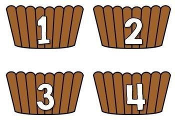 Number Match Game: Cupcake