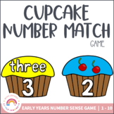 Number Match Game - Cupcakes