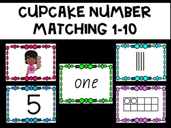 Cupcake Number Matching 1-10