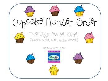 Cupcake Number Order, two digit missing numbers