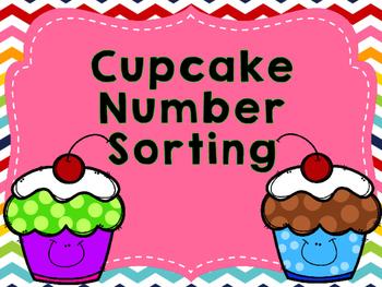 Cupcake Number Sense Sorting Freebie