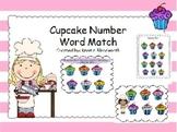 Cupcake Number Word Match Math/Reading Center