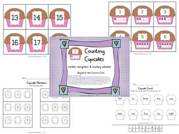 Cupcake Numbers & Counting Activities Set (Aligned to CCSS)