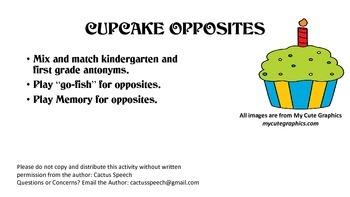 Cupcake Opposites