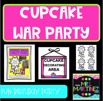 Cupcake Party Idea and Awards
