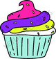 Cupcake Party! clip art