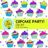 Cupcake Party! clip art