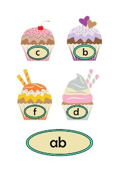 Cupcake Phonics Onset and Rime/Word Families Phases 2 3 & 4