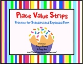 Cupcake Place Value Strips - Perfect for centers!