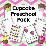 Cupcake Preschool Pack: Pre-writing, Counting, Patterns, Sorting, File Folder