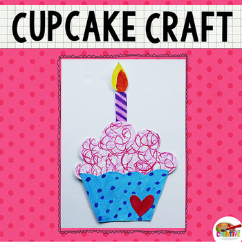 Cupcake Printable Craft Template