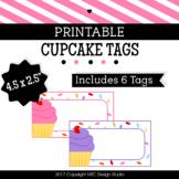 Printable Tags, Cupcake Printable, Labels, Name Tags - Classroom Decoration