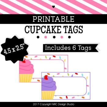 photograph regarding Printable Cupcake named Printable Tags, Cupcake Printable, Labels, Status Tags - Clroom Decoration