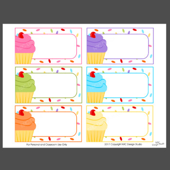 graphic about Printable Name Tages called Printable Tags, Cupcake Printable, Labels, Reputation Tags - Clroom Decoration