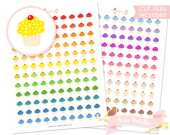 Cupcake Printable Planner Stickers