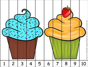 Freebie- Cupcake/Bakery Themed Puzzle Bundle