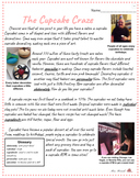 Cupcake Reading Comprehension- Leveled Bundle! (2)