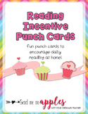 Cupcake Reading Incentive Punch Cards