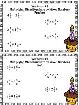 Recipe Fractions (Multiplying and Dividing) Project Based Learning