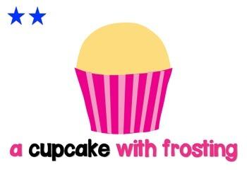 Cupcake Sentence Analogy Posters