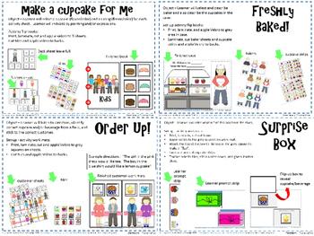 Cupcake Shop-  Interactive Speech, Language & Cognitive Activities