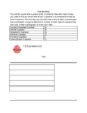 Cupcake Shop Pictograph Worksheet 2.MD.10