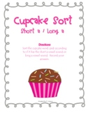 Cupcake Short a Long a Word Sort