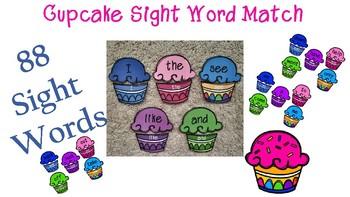Cupcake Sight Word Match