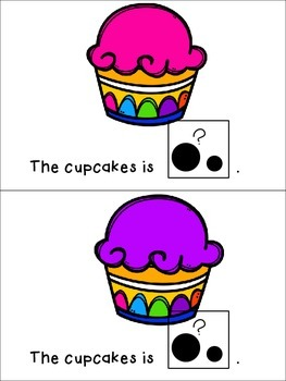 Cupcake Size, Color, and Count Adapted Books Freebie