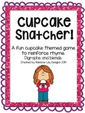 Cupcake Snatcher Rhyme Game using Digraphs and Blends