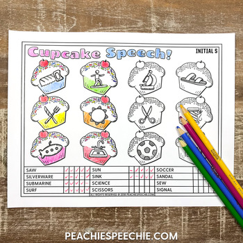 Cupcake Speech: Drill and Data Articulation Sheets