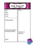 Cupcake Sub Report form