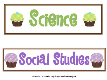 Cupcake Subject Headers