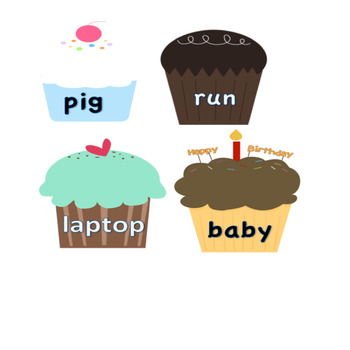 Cupcake Syllables Game