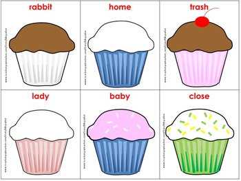 Cupcake Synonyms Freebie--A synonyms matching activity for grades K-2