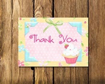Cupcake Teacher Thank You Notes