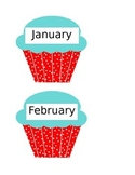 Cupcake Templates for Birthday Chart