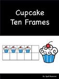Cupcake Ten Frame using mini erasers #1-20