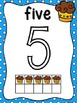 Cupcake Theme 10 Frame Number Posters