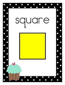 Cupcake Theme 2D and 3D Shape Posters