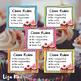 Cupcake Theme Classroom Rules