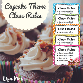 Cupcake Theme Classroom Rules
