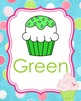 Cupcake Theme Color Posters